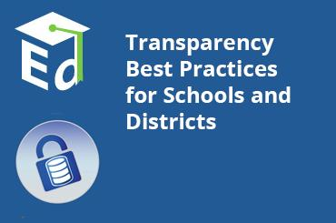 Watch Video: Transparency Best Practices for Schools and Districts - September 2014
